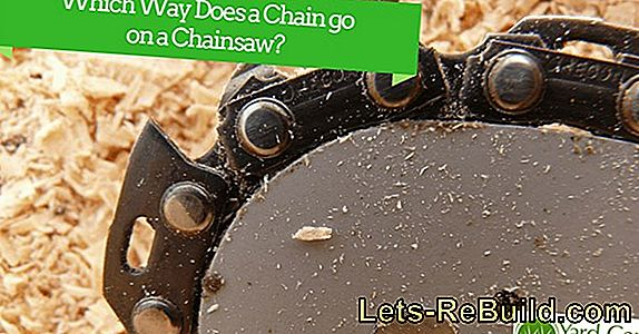 Chainsaw - what's the right direction of the chain?