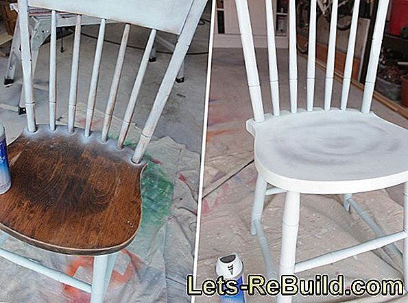 Paint a chair with a spray can
