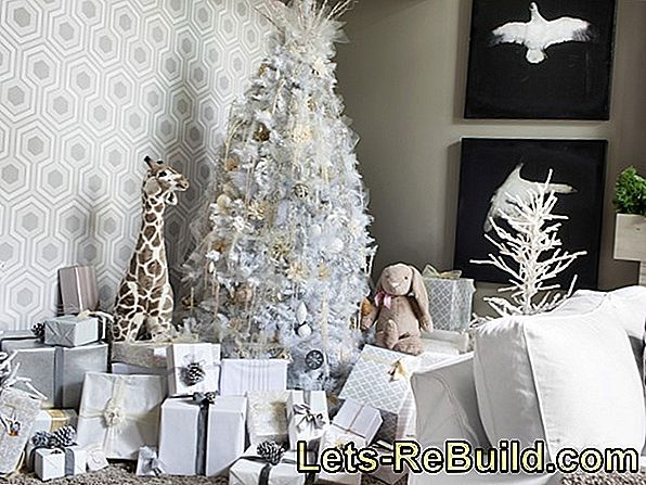 Decorate Christmas tree white - the best ideas