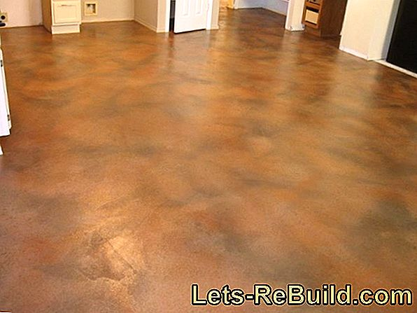 Paint the concrete floor indoors