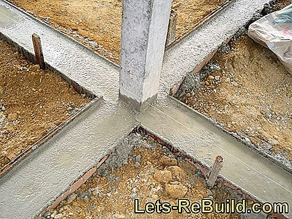 Cast frost-resistant foundations and concrete components