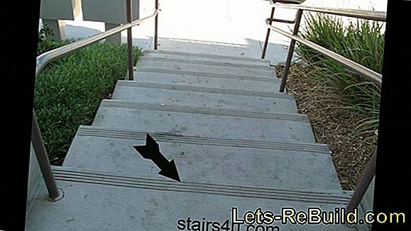 Make a concrete stairway slip-resistant