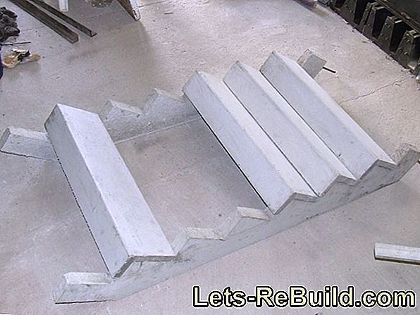 The prefabricated staircase made of concrete