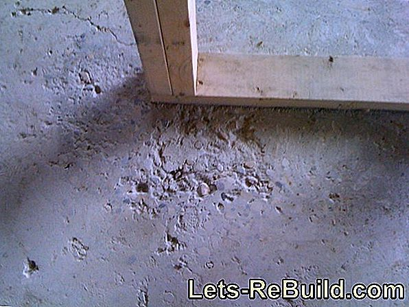 Fill exposed concrete - is that possible?