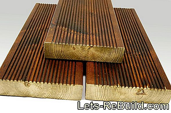 Oiling larch decking - that's how it works