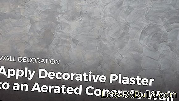 Apply decorative plaster