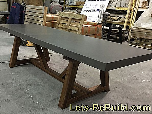 Dining Table Made Of Concrete » Features And Tips For Care