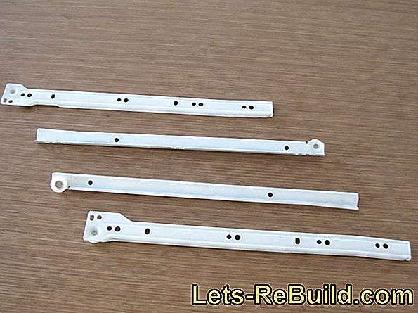 Drawer rails for substructure for heavy loads