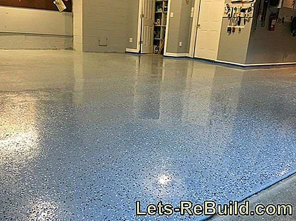 Seal concrete with epoxy resin