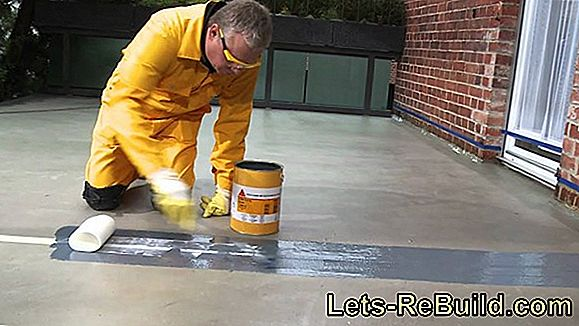 Epoxy resin screed - waterproof and flexible