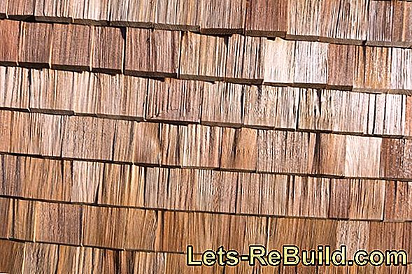 A special wall cladding with facade shingles