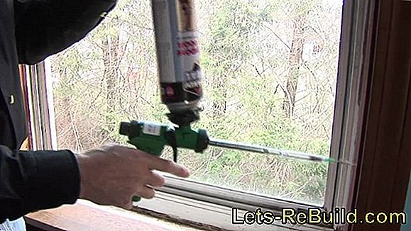 Remove construction foam from the window