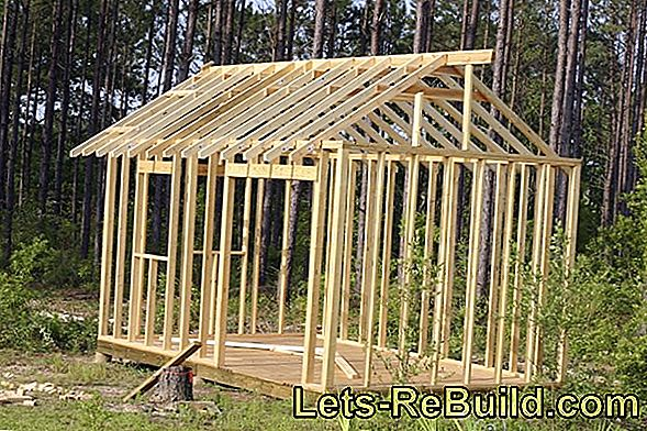 Create a foundation for a garden shed