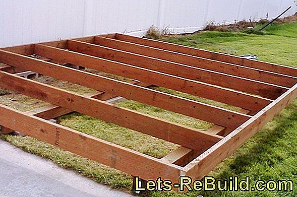 Foundation for a shed