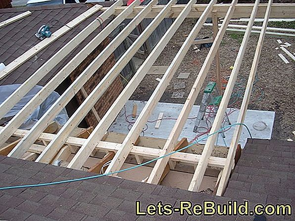 Create a foundation for patio roofing