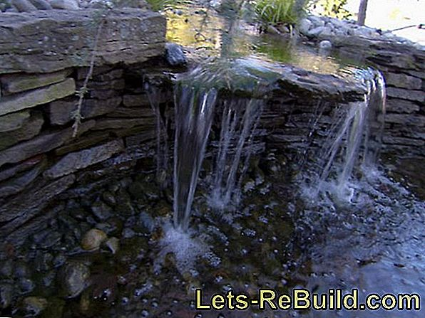Ornamental fountain with waterfall - build yourself in 6 steps