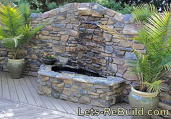 Building garden fountains yourself - easier than expected