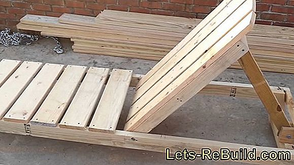 Build your deck chair or sun lounger yourself