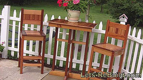 Make your own garden furniture: a pool of ideas that has it all!