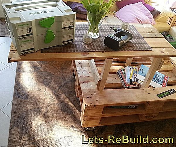 Pallet Furniture: Build A Coffee Table Made Of Europallets Yourself