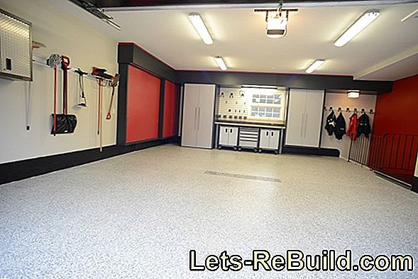 Renovate garage floor - quickly and easily with loose-laying vinyl tiles