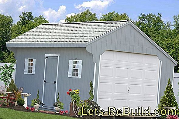 Which dimensions have prefabricated garages?