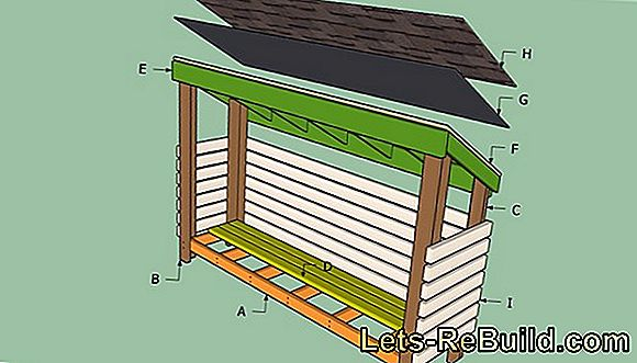 Build a wooden tool shed yourself