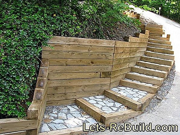 Concrete garden stairs - durable and cheap
