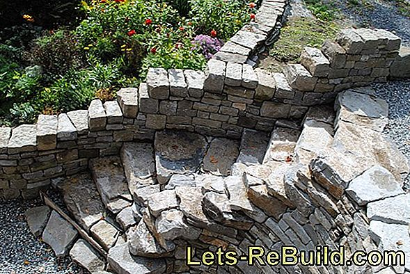Fire pit in the garden walls - that's how it works