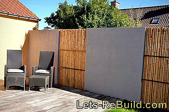Screen with a stone wall - you have these possibilities