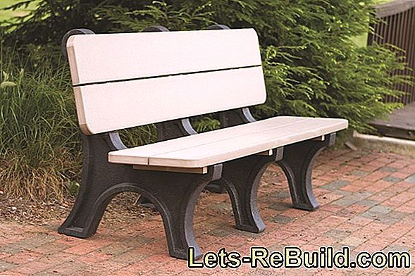 Build bench and garden bench: building instructions for rocking bench and wooden bench