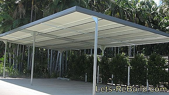 Construction instructions for carport, parking space and shelter