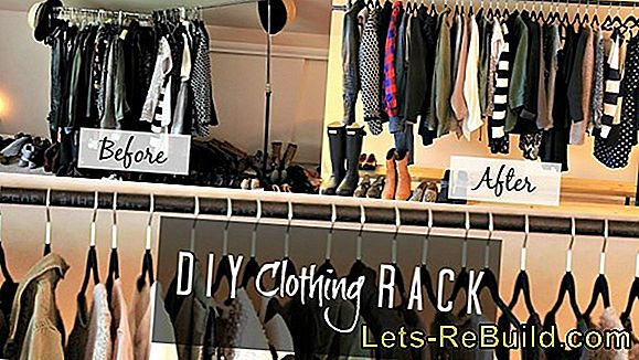 Mobile clothes rack: make wardrobe yourself