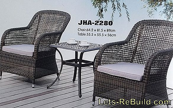 Terrace furniture made of wood, rattan, metal and aluminum, weatherproof and cheap