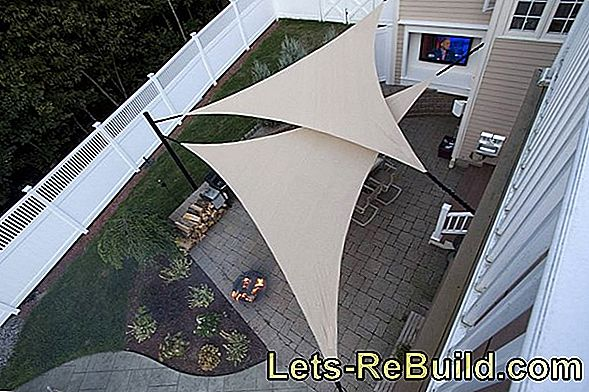 Attach awning - Sun protection with a sunshade sail