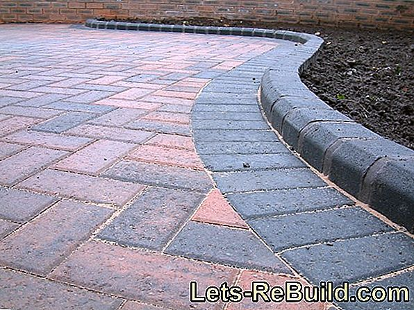 Separate and cut patio slabs