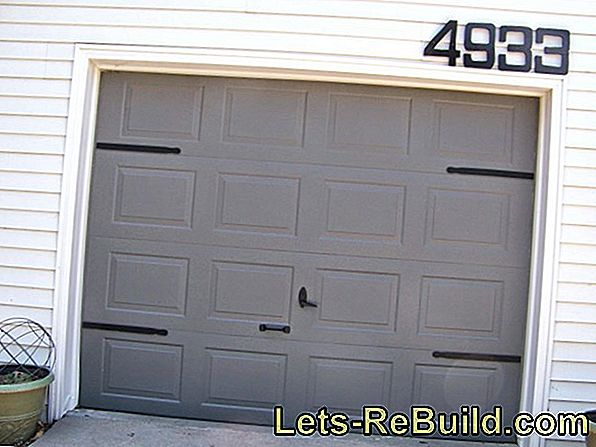 Paint wooden garage door