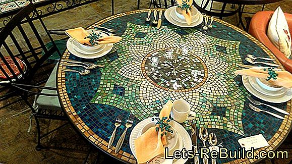Renovate mosaic garden table