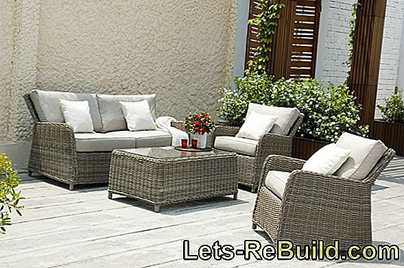 Poly rattan and rattan garden furniture
