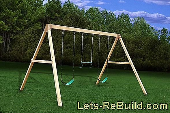 Wooden swing made of wood, aluminum, teak and for children
