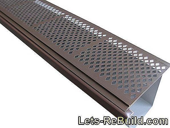 Solder gutter - durable gutters made of metal