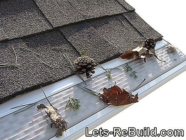 Both metal and plastic: white gutters
