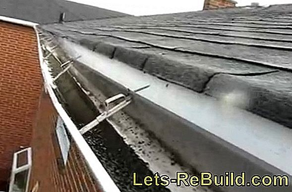 Repair damage to the gutter with the repair tape