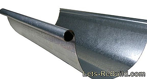Stainless steel drainage: the galvanized gutter
