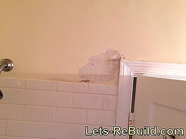 Gypsum plaster in the bathroom