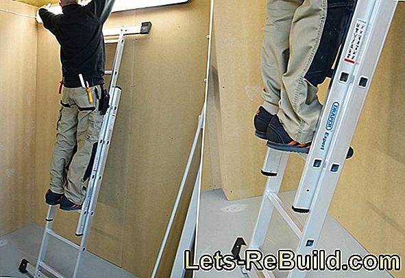 Setting up the ladder - safe and reliable