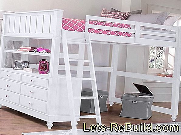 Beautiful decoration ideas for the loft bed