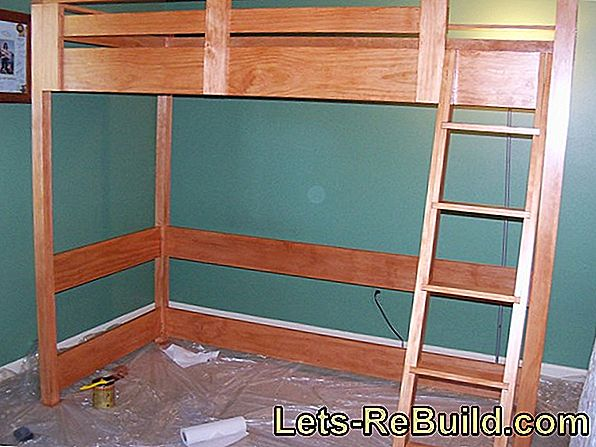 Build a loft bed yourself - that's how it works