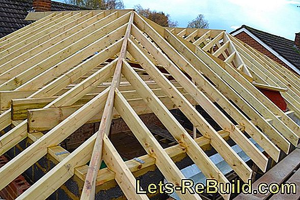 Which roof construction for the hipped roof?