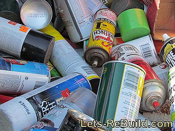 Dispose of PU foam cans correctly - DIY stores have to take back construction cans